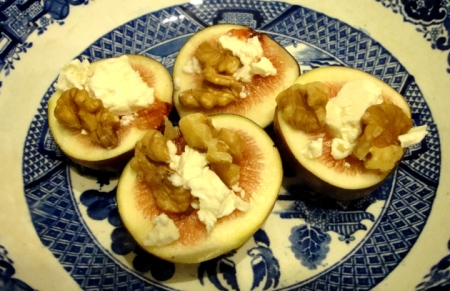Feta Figs with Walnuts