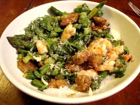 Shrimp Asparagus Caesar Salad
