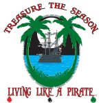 Living Like a Pirate T-shirt Art