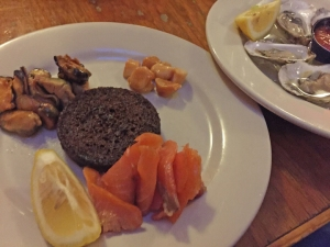 While in Maine,  eat the seafood. Smoked scallops, mussels, and salmon with some raw cold water oysters. Brown bread. Killin!