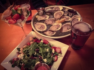 When in Maine...eat the seafood. Oysters and lobster. Salad with local goat cheese.