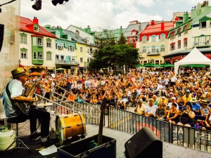 Mont Tremblant Blues Festival. Last gig on the tour, but certainly not the least. This was my third time playing this festival. It gets better every time. They were ready for me. The real surprise for me on this gig was the rapt attention that everyone gave me. as a matter of fact at all the gigs on this tour , I was greeted with spellbound attention from all the  public in all the places. From a 50 seat listening room to an 8000 strong  street festival, the vibe was filled with reverence for the music and for the sharing of the gumbo.